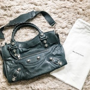 Amazing Auth Balenciaga City bag in Anthracite